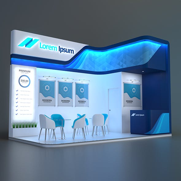 EXHIBITION STAND GMB 18 sqm - 3DOcean Item for Sale