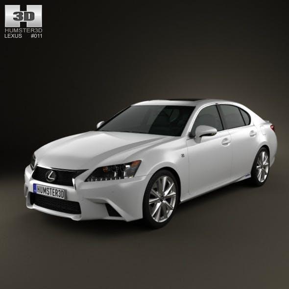 Lexus GS F Sport hybrid (L10) 2012