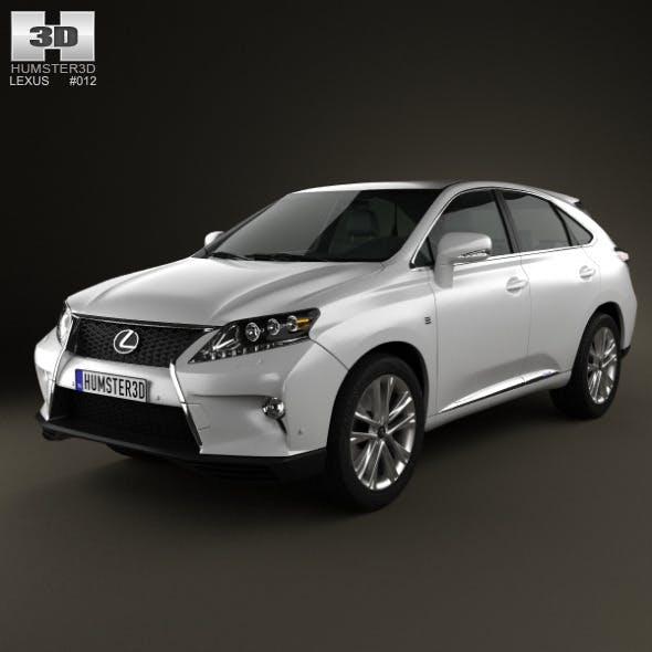 Lexus RX F Sport hybrid (AL10) 2012 - 3DOcean Item for Sale