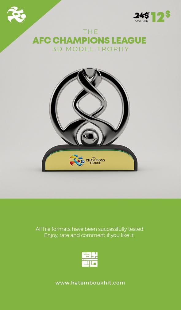 AFC Champions League 3D Model Trophy - 3DOcean Item for Sale
