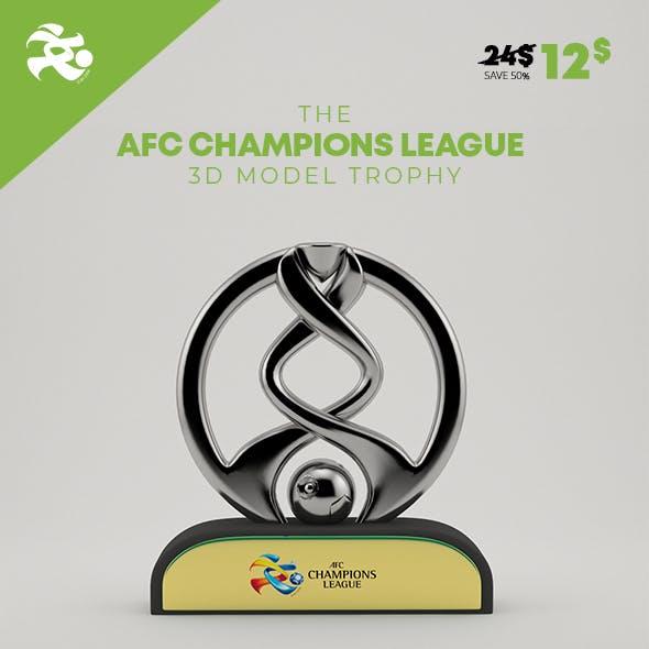 AFC Champions League 3D Model Trophy