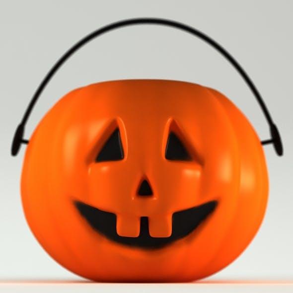 Halloween Pumpkin - Mini Plastic Basket - 3DOcean Item for Sale