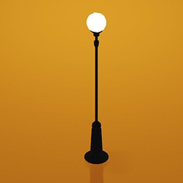 Low Street Lamp Post w/Camera & Lighting Scene