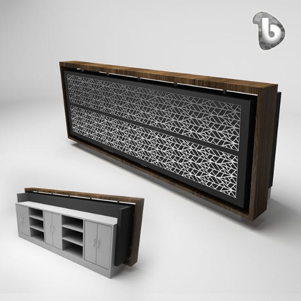 Reception Counter - RC109 - 3DOcean Item for Sale