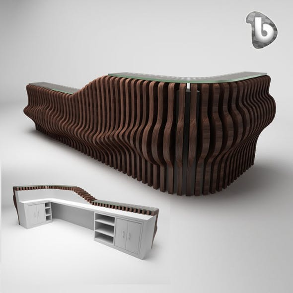 Reception Counter - RC112 - 3DOcean Item for Sale
