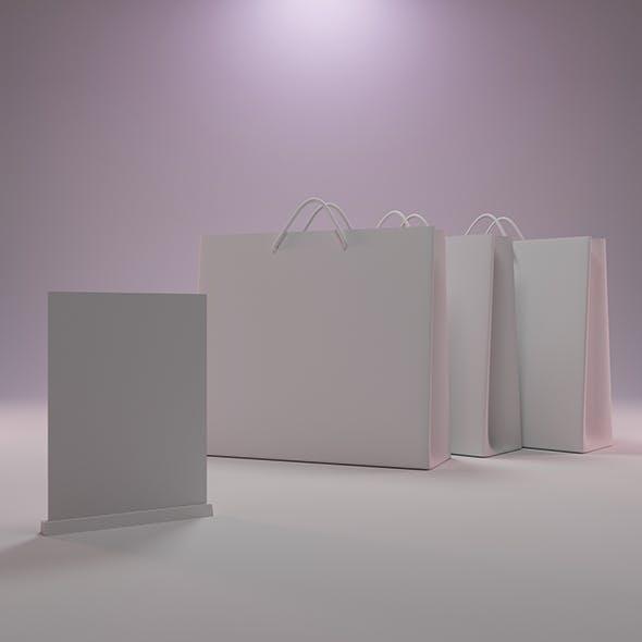 Paper Bag Mockup 3D