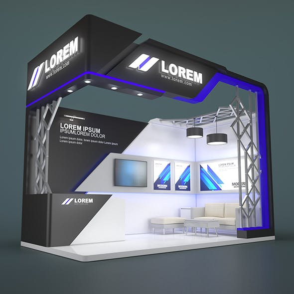 EXHIBITION STAND JIIP 18 sqm - 3DOcean Item for Sale