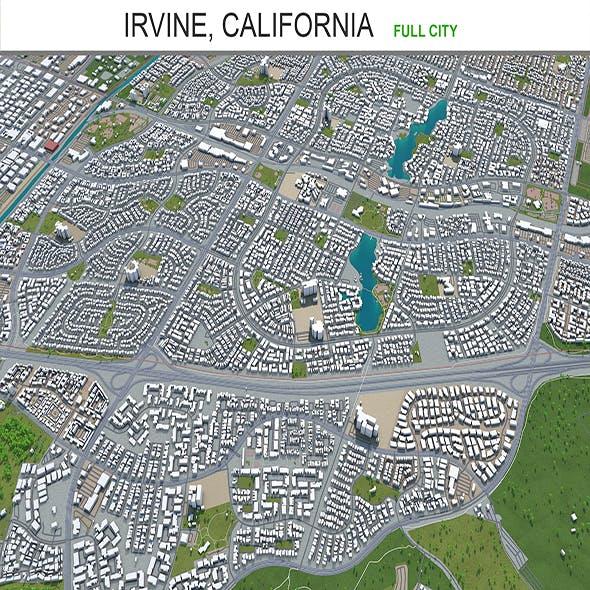 Irvine city California 3d model 30Km