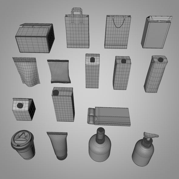 Packaging Pack V.01 - 3DOcean Item for Sale