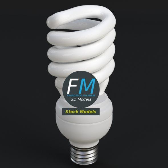GE-style fluorescent light bulb lamp