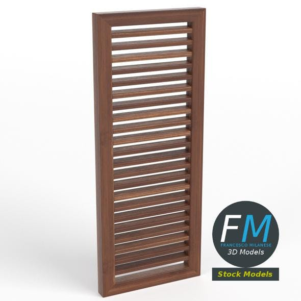 Louver window blind - 3DOcean Item for Sale