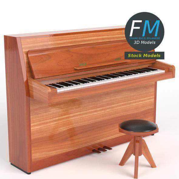 Open vertical piano - 3DOcean Item for Sale