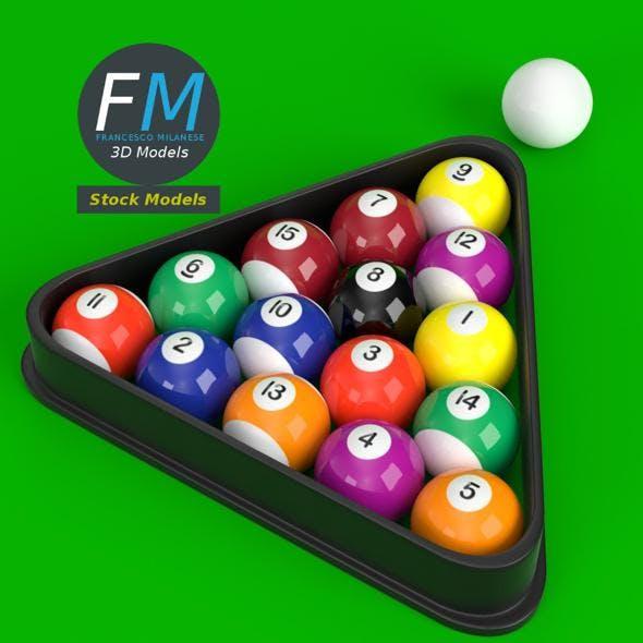 Pool billiard balls - 3DOcean Item for Sale