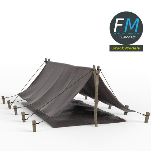 Simple pup tent