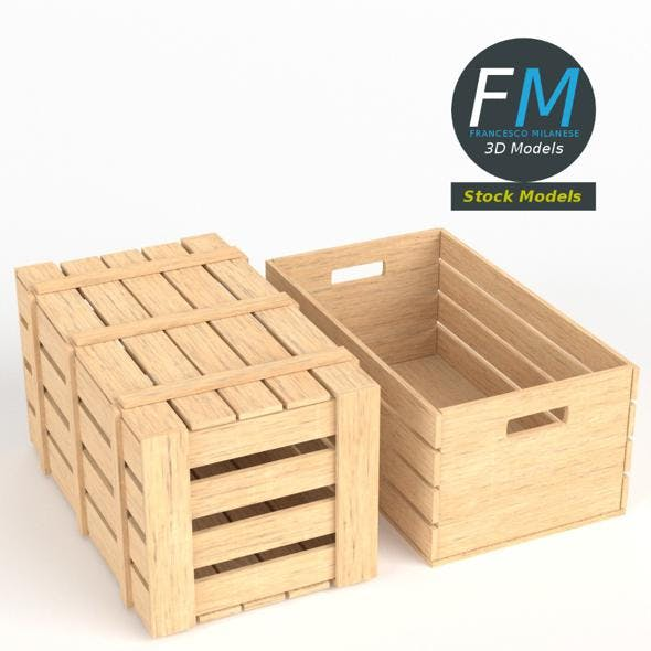 Wooden crates - 3DOcean Item for Sale