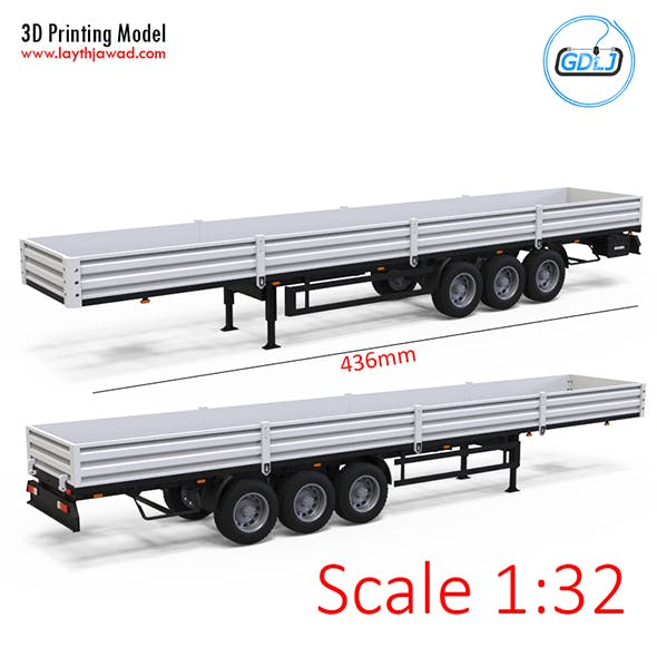 Trailer 1:32 - 3DOcean Item for Sale