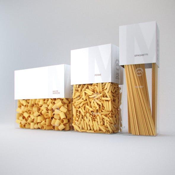 Photorelistic Pasta boxes