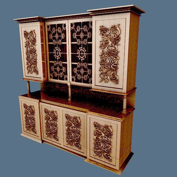 Kitchen Ware Buffet - 3DOcean Item for Sale