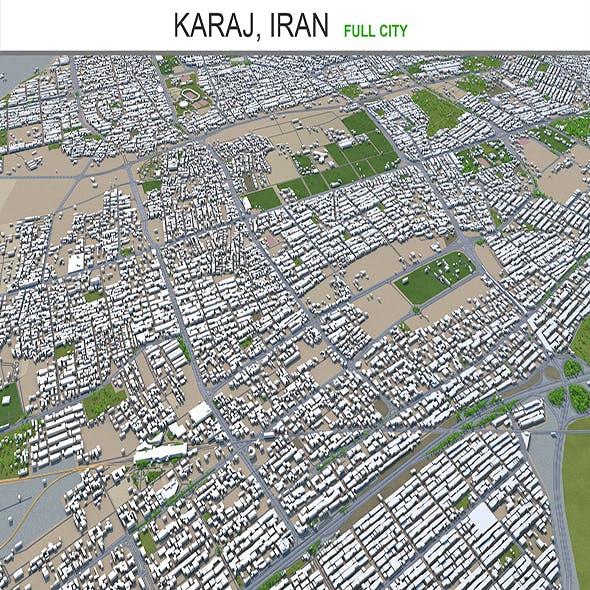 Karaj city Iran 3d model 50km