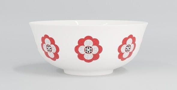 Flower Design Bowl - 3DOcean Item for Sale