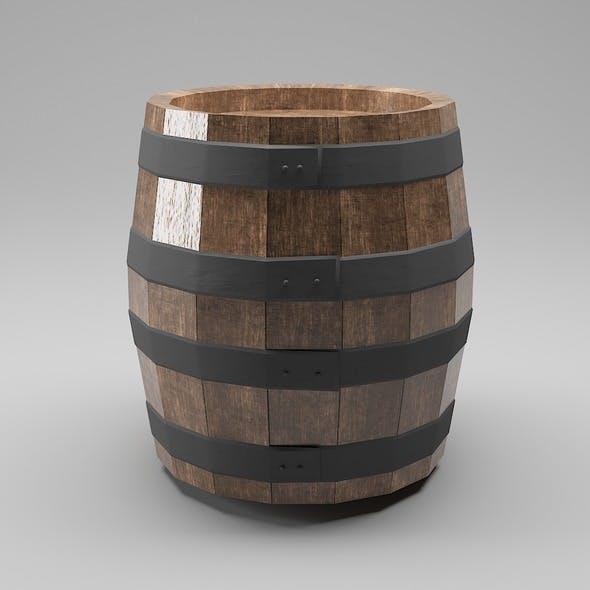 Wooden barrel low poly pbr - 3DOcean Item for Sale