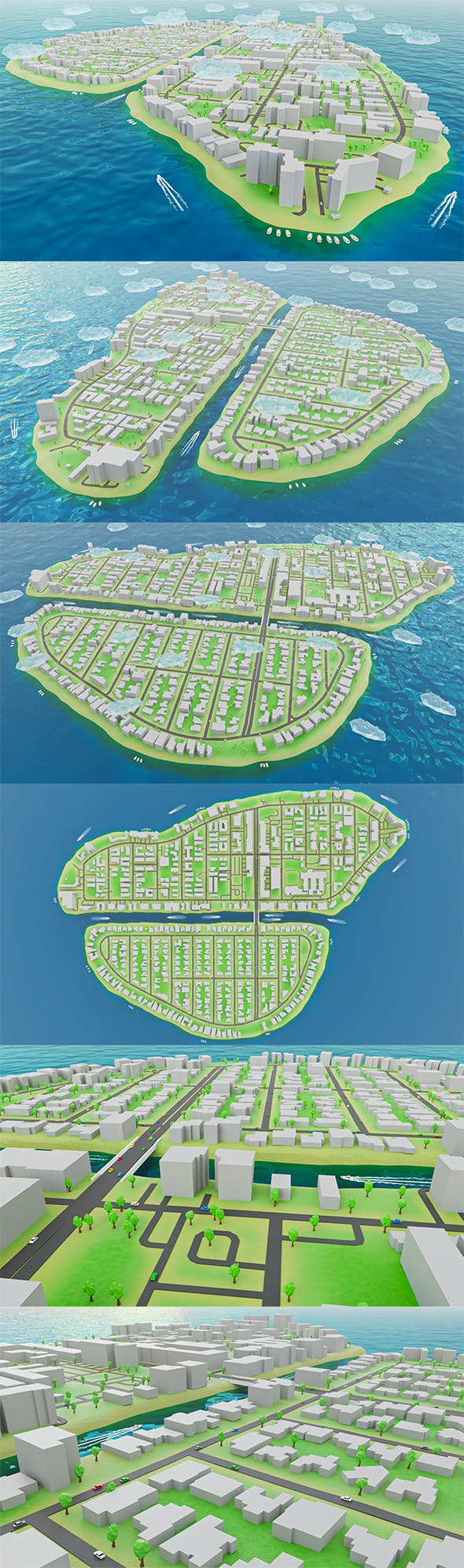 Miami - Bay Harbor Islands - Real Copy Low-poly 3D model - 3DOcean Item for Sale