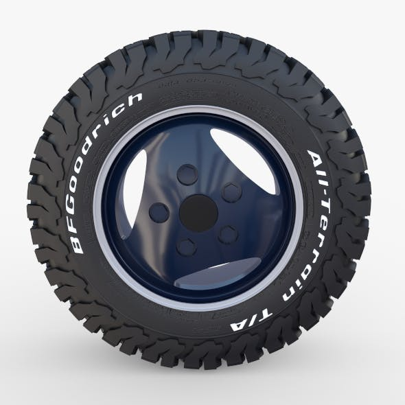 Range Rover Classic Wheel BF Goodrich AT - 3DOcean Item for Sale