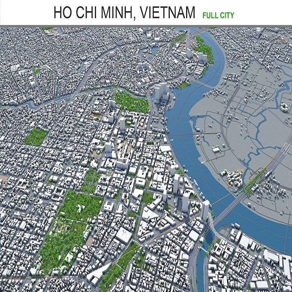 Ho Chi Minh city Vietnam 3d model 100km - 3DOcean Item for Sale