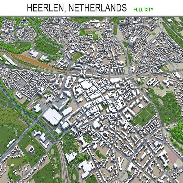 Heerlen city Netherlands 3d model 40Km - 3DOcean Item for Sale
