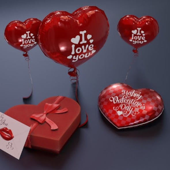 Valentines' Day 3D Model