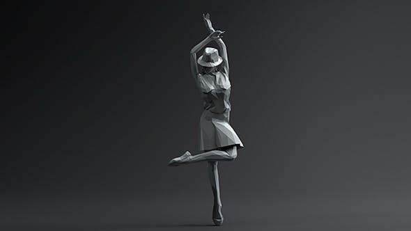 Woman Dancing Pose 2. Low Poly - 3DOcean Item for Sale
