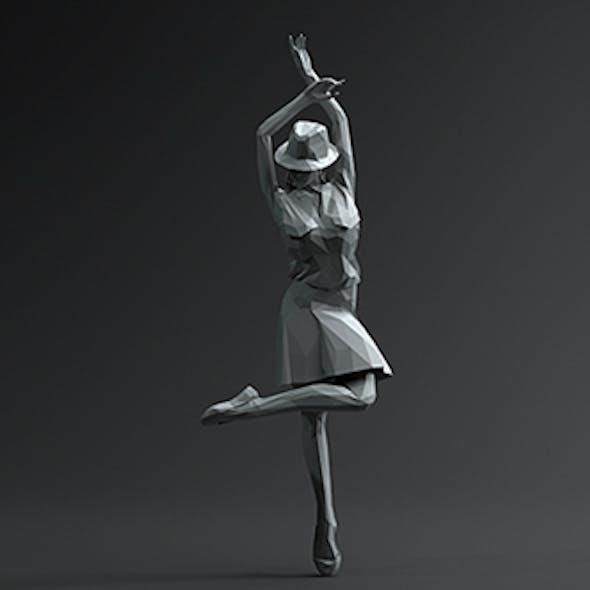 Woman Dancing Pose 2. Low Poly