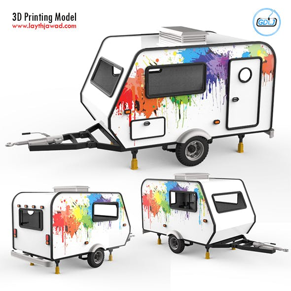Trailer Travel 3D Printing Model - 3DOcean Item for Sale