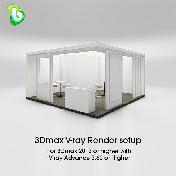 Exhibition Booth - Render Setup - 3Dmax & V-ray