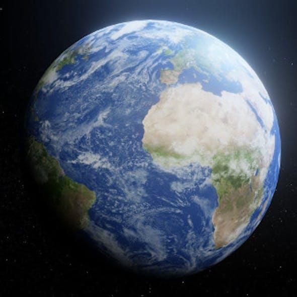 Photorealistic Earth 8k Textures 3D Model