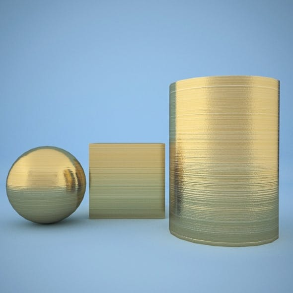 V-ray Striped brass - 3DOcean Item for Sale