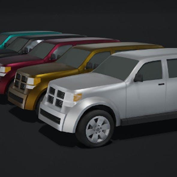 Off-Road Car Generic Lowpoly 3D Model