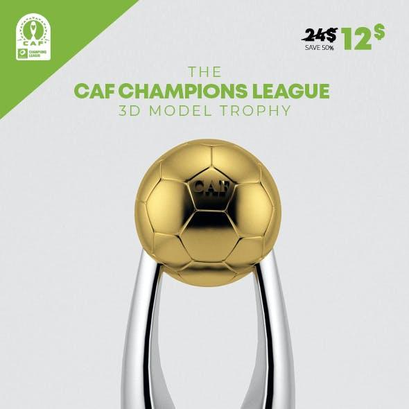 CAF Champions League 3D Model Trophy