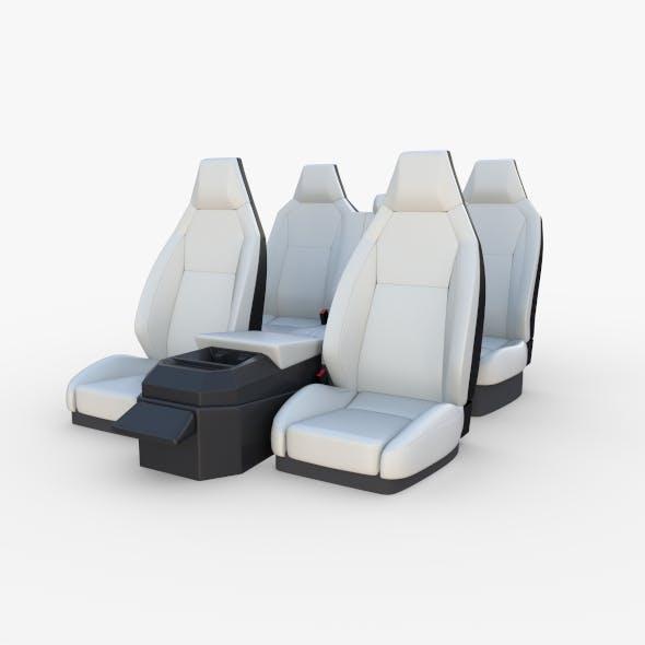 Tesla Cybertruck Seats White - 3DOcean Item for Sale