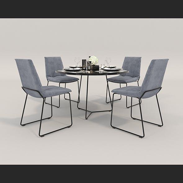 Contemporary Design Dining Set 2