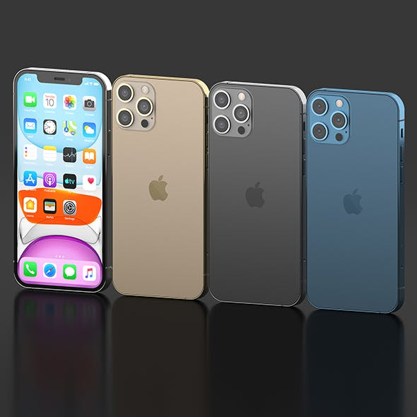Iphone 12 Pro All colors - 3DOcean Item for Sale
