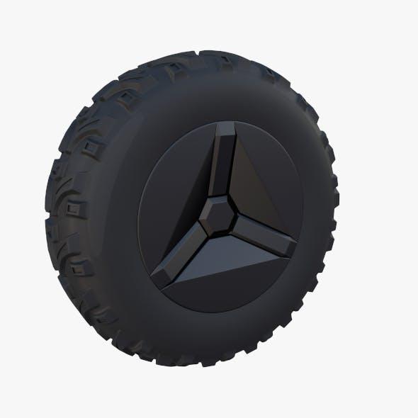 Tesla Cyberquad ATV Wheel 1 - 3DOcean Item for Sale