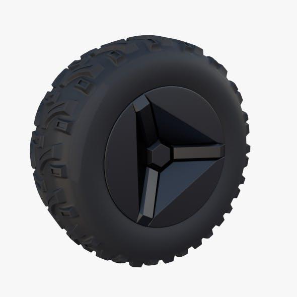 Tesla Cyberquad ATV Wheel 2 - 3DOcean Item for Sale