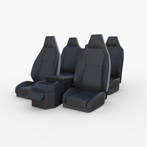 Tesla Cybertruck Seats Dark - 3DOcean Item for Sale