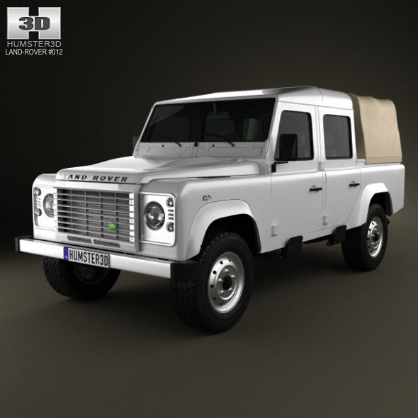 Land Rover Defender 110 Double Cab pickup 2011 - 3DOcean Item for Sale