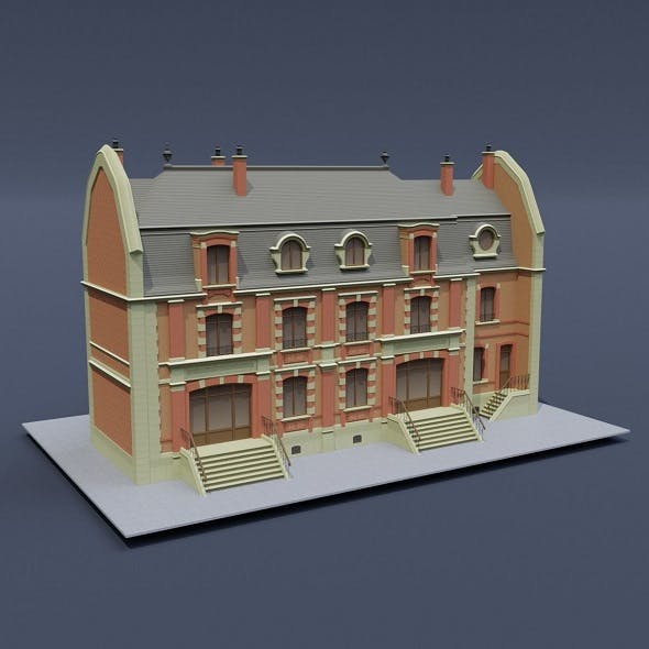Victorian House 02 - 3DOcean Item for Sale
