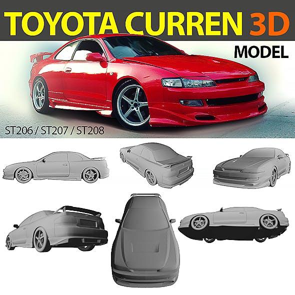 Toyota Curren 3D model トヨタ カレン 1994-1998, ST206, ST207, ST208 (Varis bodykit)