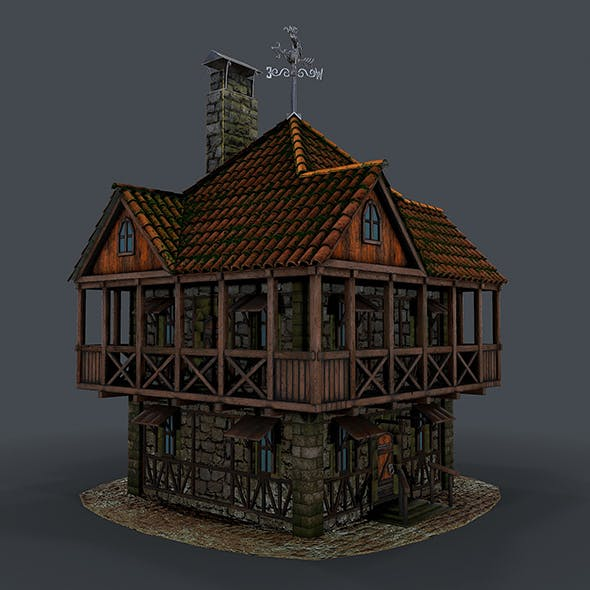 Medieval house 3d model - 3DOcean Item for Sale