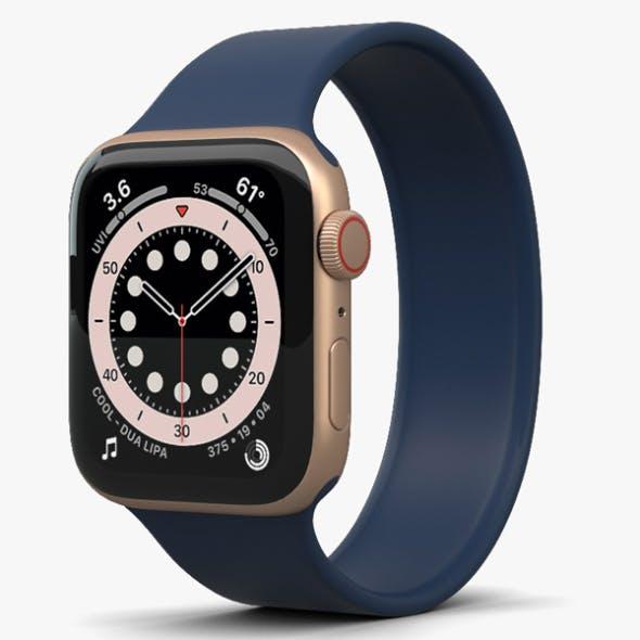 Apple Watch Series 6 44mm Aluminum Gold - 3DOcean Item for Sale