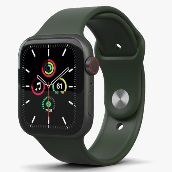 Apple Watch SE 44mm Aluminum Space Gray - 3DOcean Item for Sale